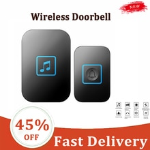 Wireless Doorbell One For Two And One For One Wireless Pager Smart Electronic Music Doorbell Househo