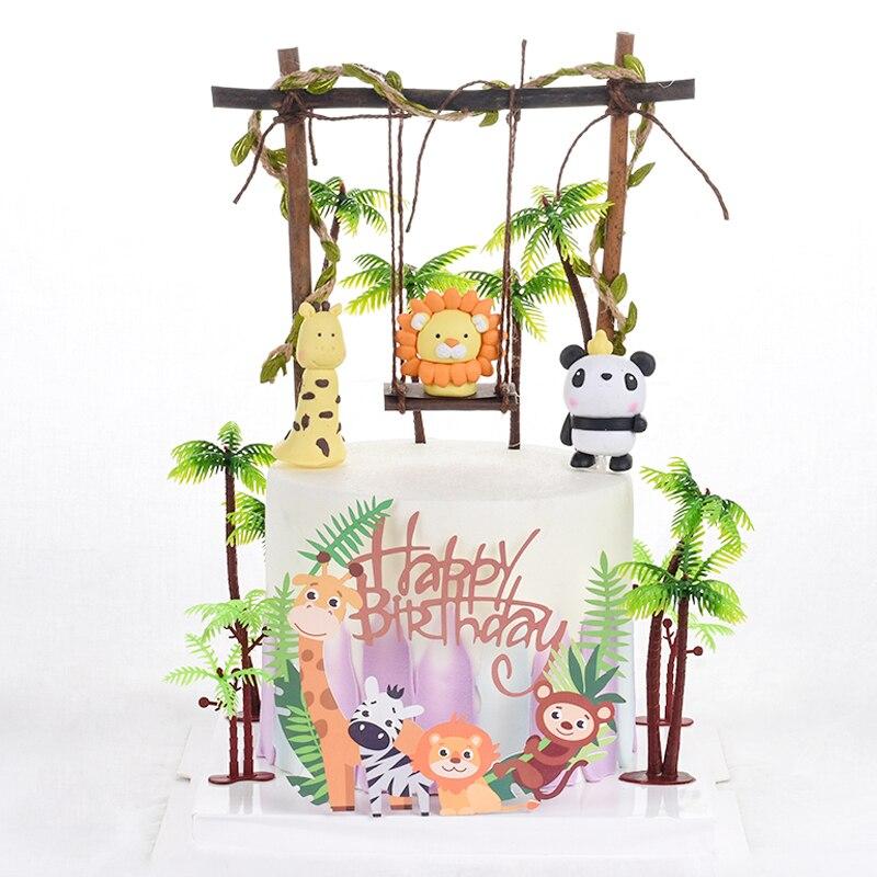 Cakelove дерево качели Животные украшения лист веревка войлочное дерево пчела торт Топпер для детей день рождения принадлежности для выпечки прекрасные подарки