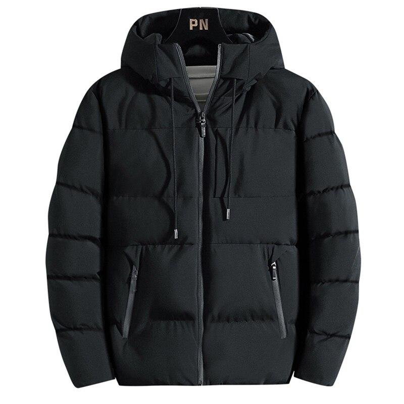 Куртка с хлопковой подкладкой, Мужские осенне-зимние куртки, Новая повседневная одежда 2021, толстые теплые парки с капюшоном, пальто, мужская...