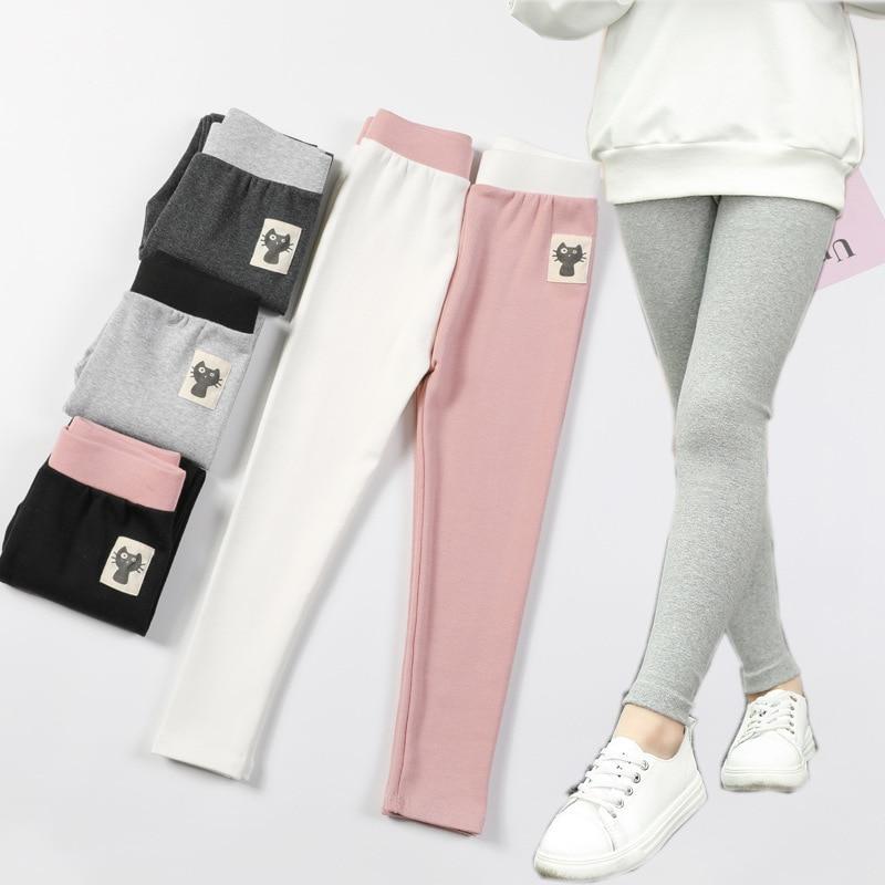 Леггинсы для девочек, спортивные Леггинсы для девочек, демисезонные детские школьные брюки, облегающие леггинсы для девочек, хлопковые Мул...