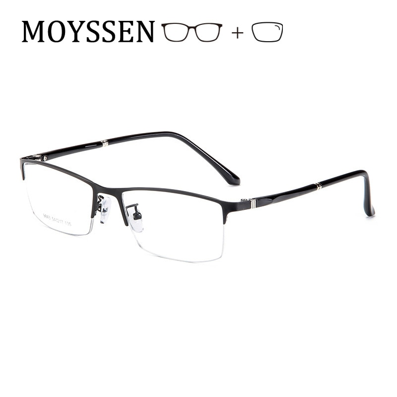 Business Men Formal Casual Metal Half Frame Customized Myopia Presbyopia Prescription Glasses Man Op