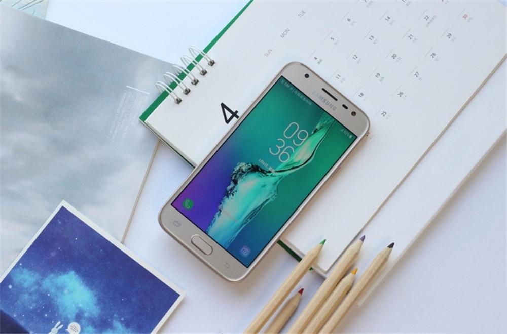 Original Samsung Galaxy J3 (2017) J330F  Quad-core 2GB RAM 16GB ROM 5.0 Inches Unlocked used enlarge