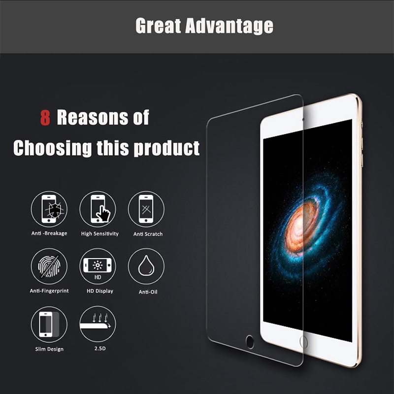 For Apple iPad 9.7 2018 Tablet Protective Screen Anti-Scratch Tempered Glass For Apple iPad 6th A1893 A1954