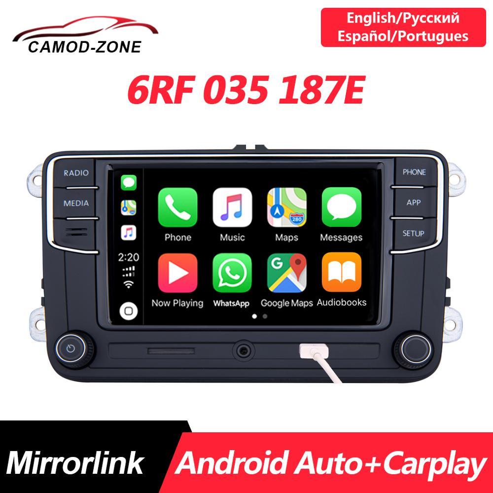 Rádio do carro 6rf 035 187e para vw golf 5 6 jetta mk6 cc tiguan passat polo android auto noname rcd330 mais rcd330g carplay r340g mib