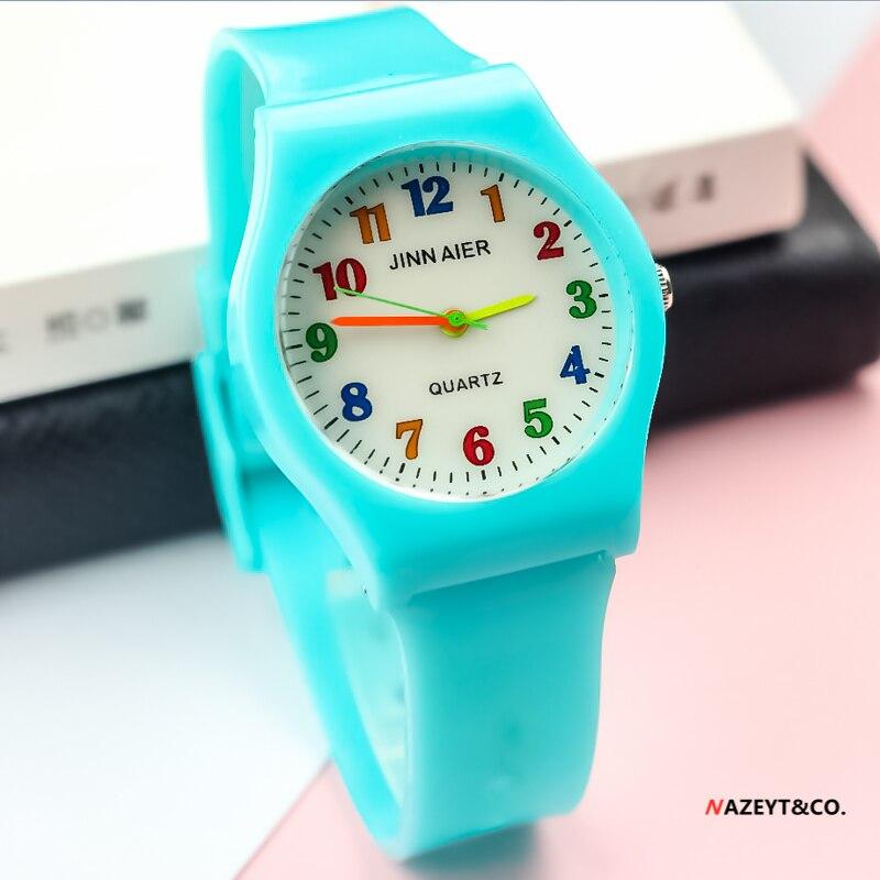 Promoção nova moda unisex relógio de quartzo mulher meninos médios meninas cor não. dial geléia relógio estudante cor silicone pulseira