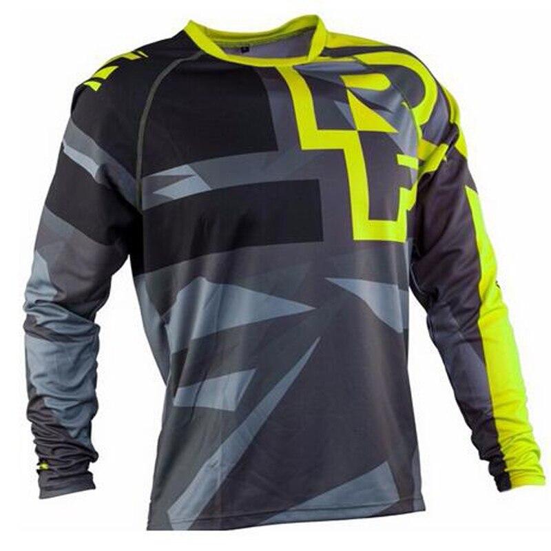 Jerseys del equipo de carreras de la motocicleta Motor BMX DH deportes al aire libre MTB bicicleta de la suciedad camiseta sudadera hielo frío sensación