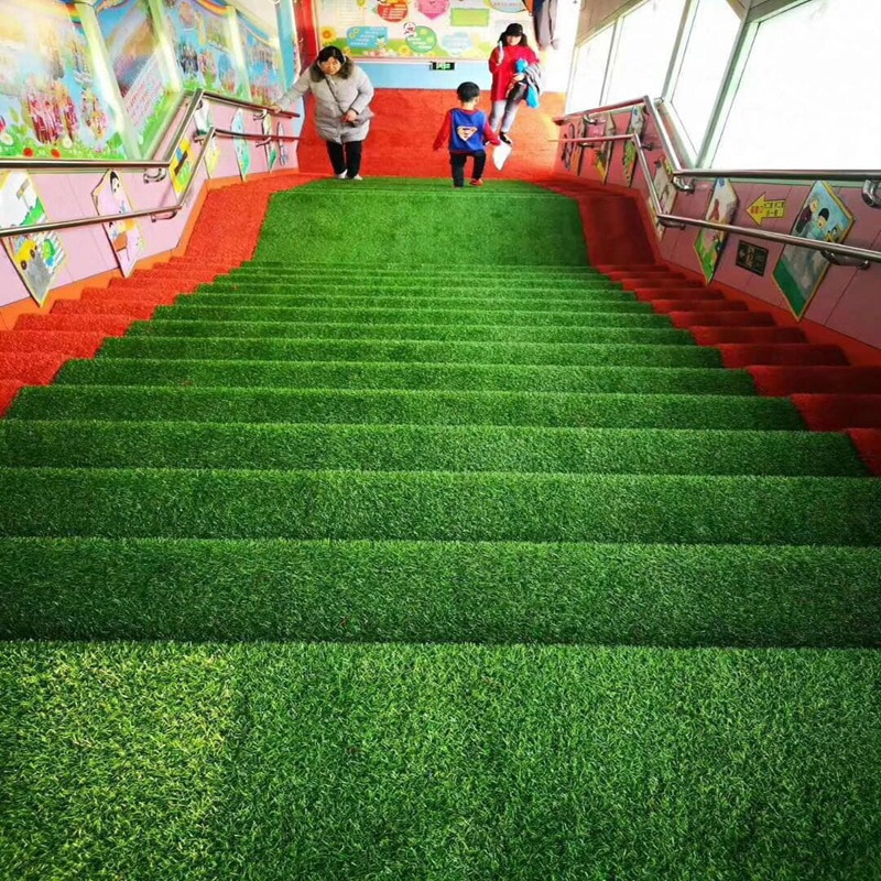 Tapete artificial para gramado, tapete decorativo de jardim doméstico com gramado falso
