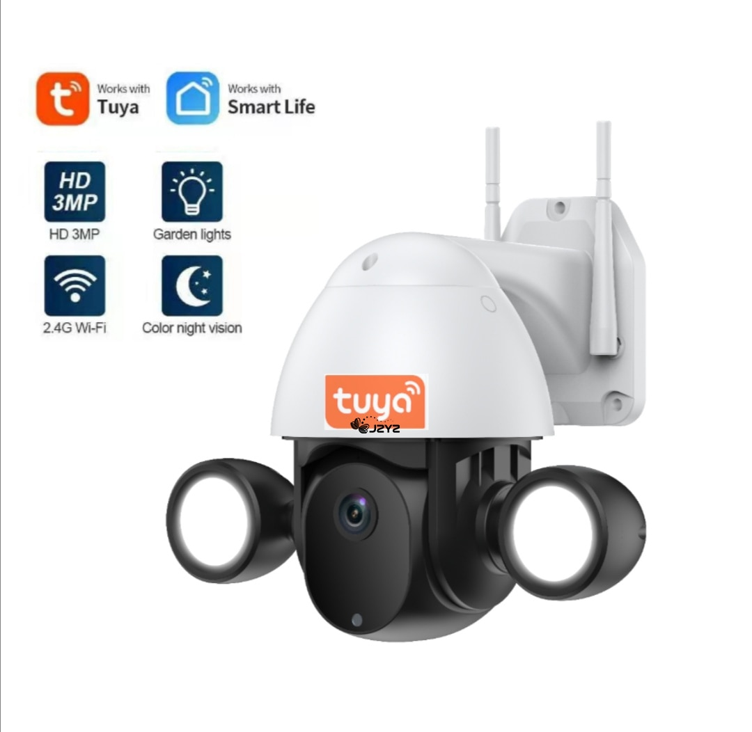 Tuya Camera Wireless Courtyard 3MP HD Home Garden Indoor Outdoor Humanoid Trigger Flood Lighting Cam Work With Google And Alexa