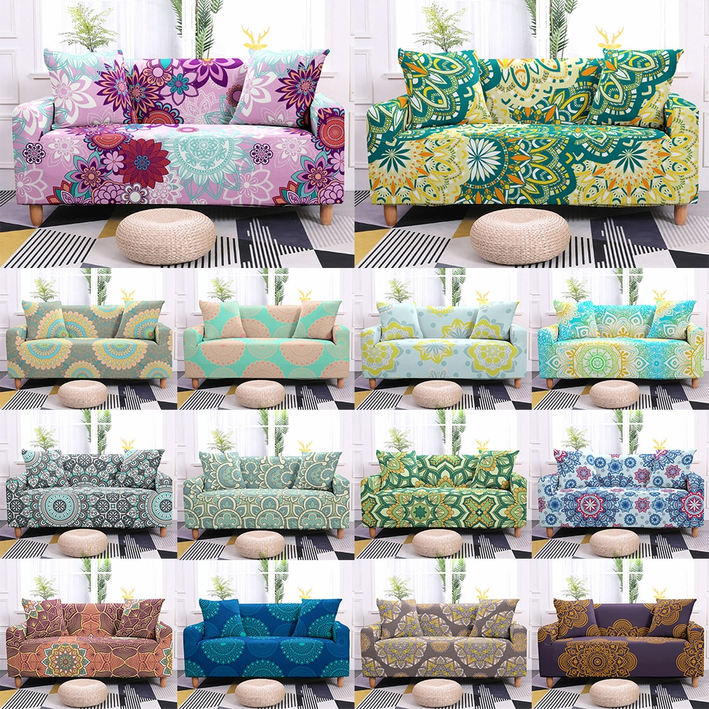 AliExpress - 3D Mandala Pattern Elastic Sofa Cover for Living Room Stretch Sofa Slipcover Single Sectional Couch Covers Loveseat Sofa