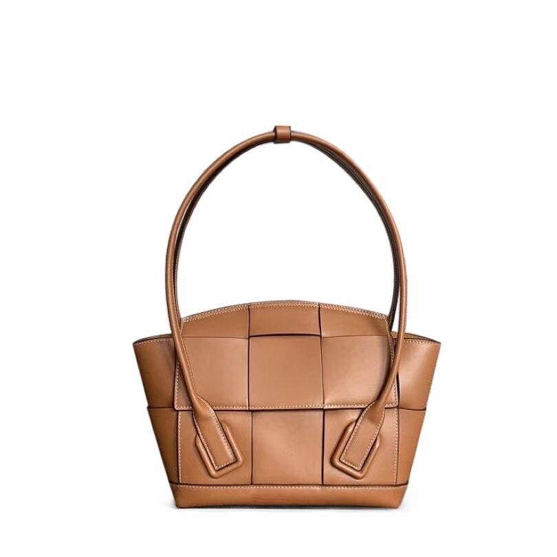 Genuine Leather Women BagHandbag Fashion Smile Face Weaving Female Shoulder Bag Brand Luxury Ladies Bat Tote Designer Clutches