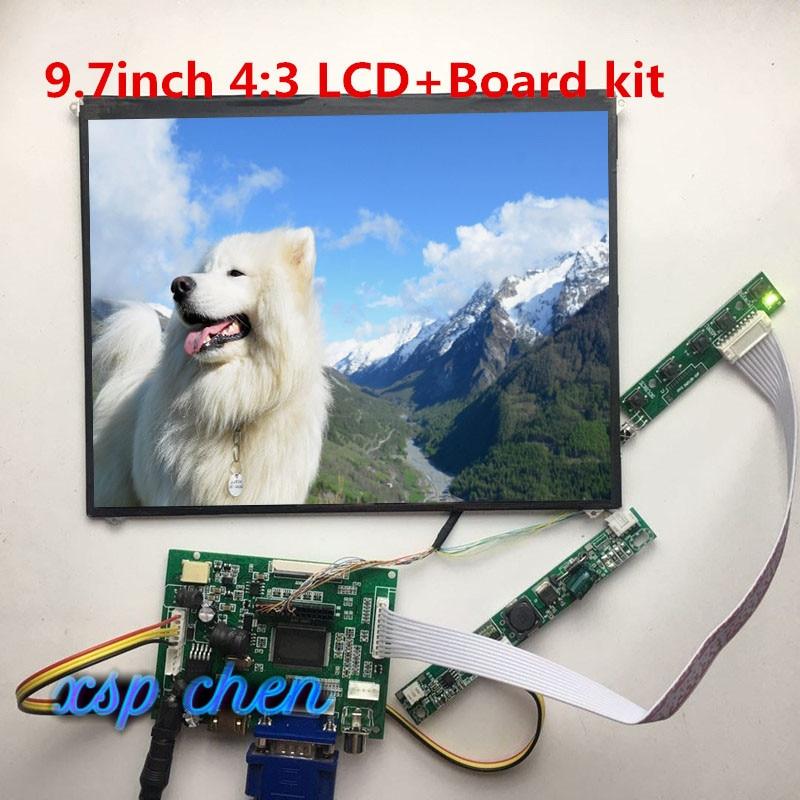 "1024x768 9.7 ""lp097x02 ltn097xl01 sln1 ips lcd painel hdmi vga áudio lcd placa controladora lvds 30 pinos para tablet pc tela da almofada"