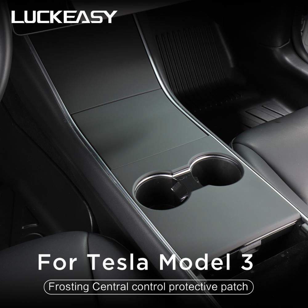 LUCKEASY car central control panel  protective patch for Tesla Model 3 2017-2020 Central control three patch feels Tesla Model Y