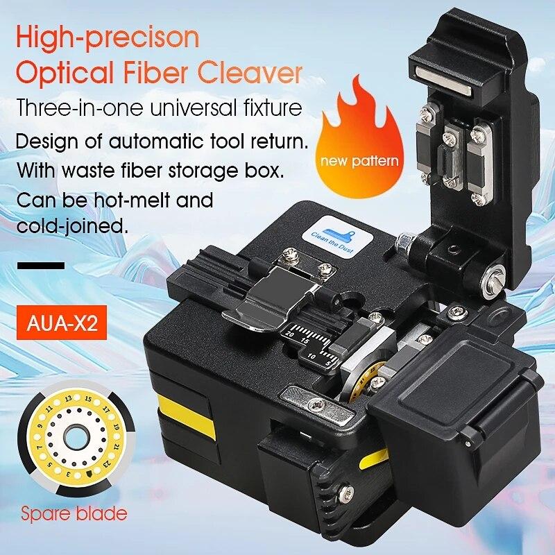 FTTH عالية الدقة قطع أداة AUA-S2/X2 جهاز تقطيع الألياف البصرية كابل قطع سكين الألياف الساطور