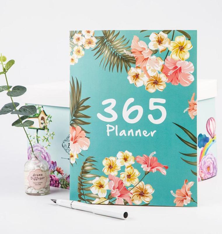 A4 gran 365 planificador de 2020 Kawaii autollenado Agenda de 12 meses planificador chino suministros escolares de oficina planificador de 365