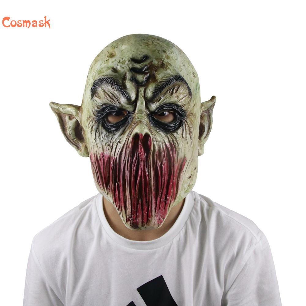 Cosmask Horror de Halloween No la boca monstruo máscara podrido zombi de látex máscara zombi máscara adulto de látex máscara de Halloween