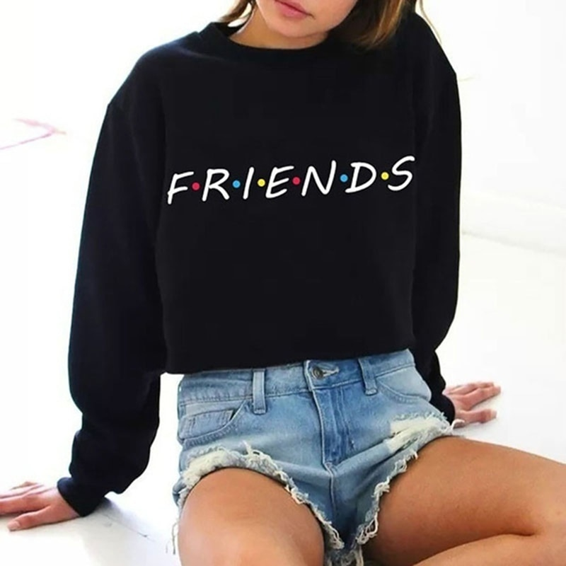 Sudaderas Friends TV Show Women Hoodies Casual Sweatshirt Coat Jacket Outwear Tops Pullover Candy S-4XL 5 Color