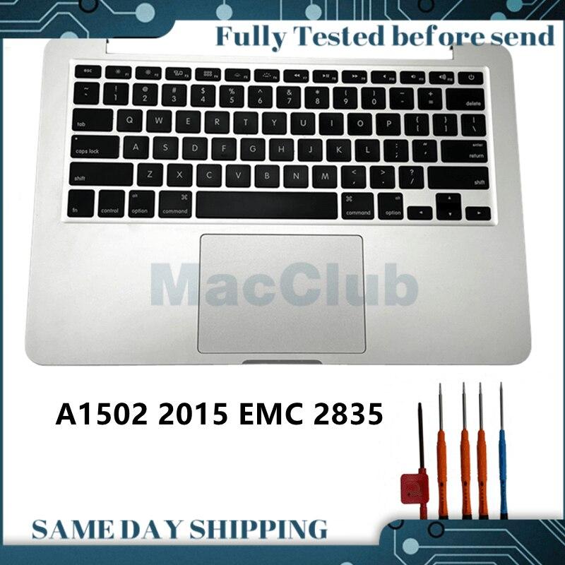 1502 2015 أعلى حالة + لنا لوحة المفاتيح + تراكباد + بطارية الجمعية ل ماك بوك برو 13 MF841LL/MF839LL/MF843LL/EMC 2835 لوحة المفاتيح