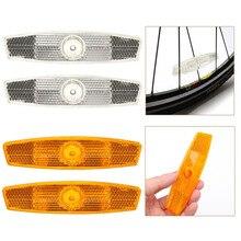 1 paire vélo vélo roue réflecteur sécurité rayon réfléchissant montage Vintage Clip avertissement blanc/jaune