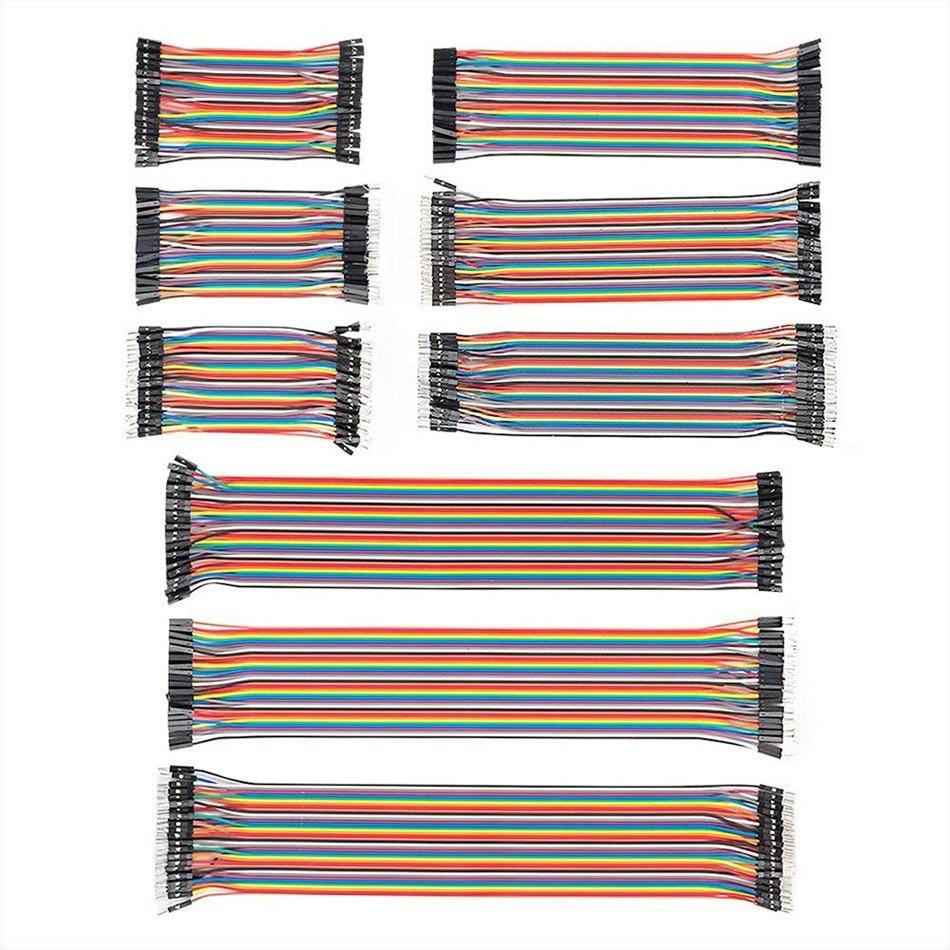 360 шт. кабели Dupont, макетная плата, джамперы, 10, 20, 30 см, ленточные кабели, комплект линий Dupont «штырь-гнездо» для Arduino