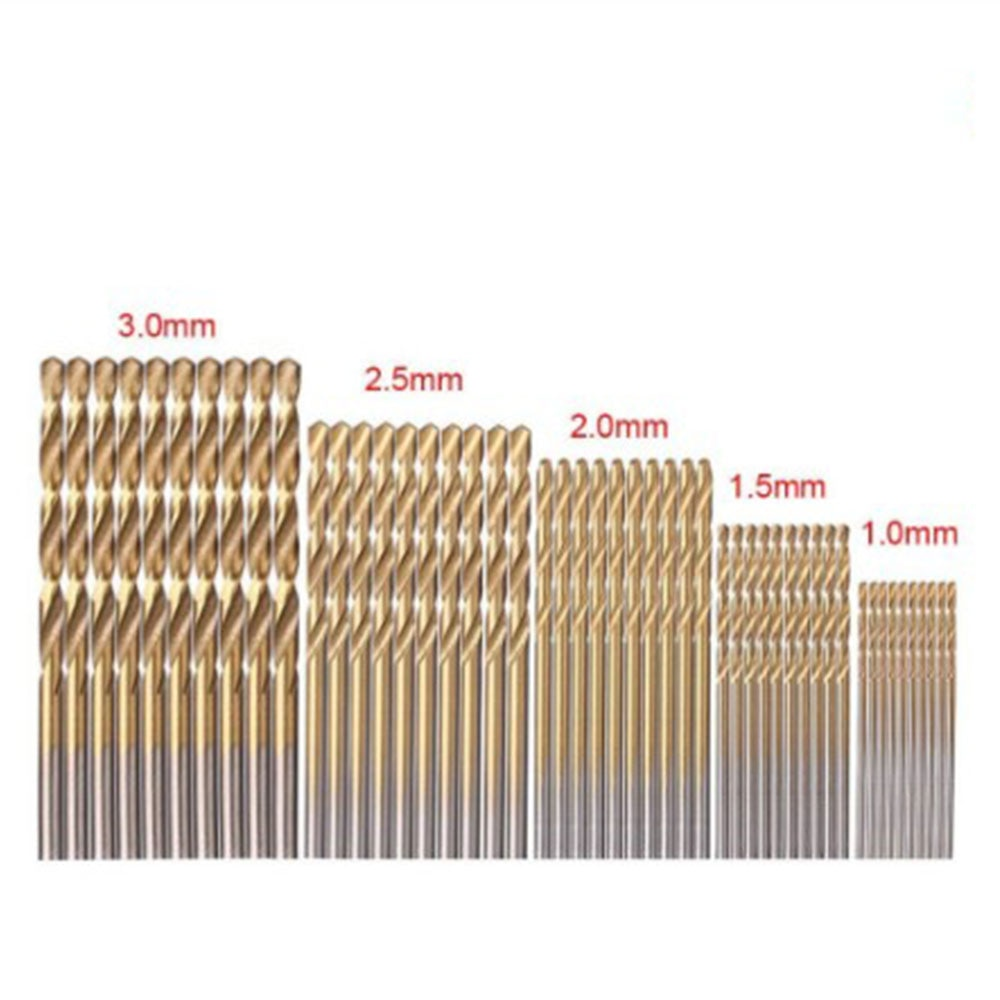 Molti tipi di punte elicoidali rivestite in titanio in acciaio ad - Punta da trapano - Fotografia 6