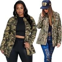 cool camouflage casual baseball jacket plus size safari women coat autumn clothing trendy hight street wear dropshipping