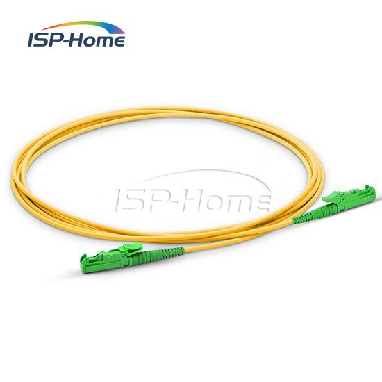 10m E2000 APC a E2000 APC Simplex 2,0mm Cable de parche de fibra óptica de modo único, Cable de puente de fibra óptica