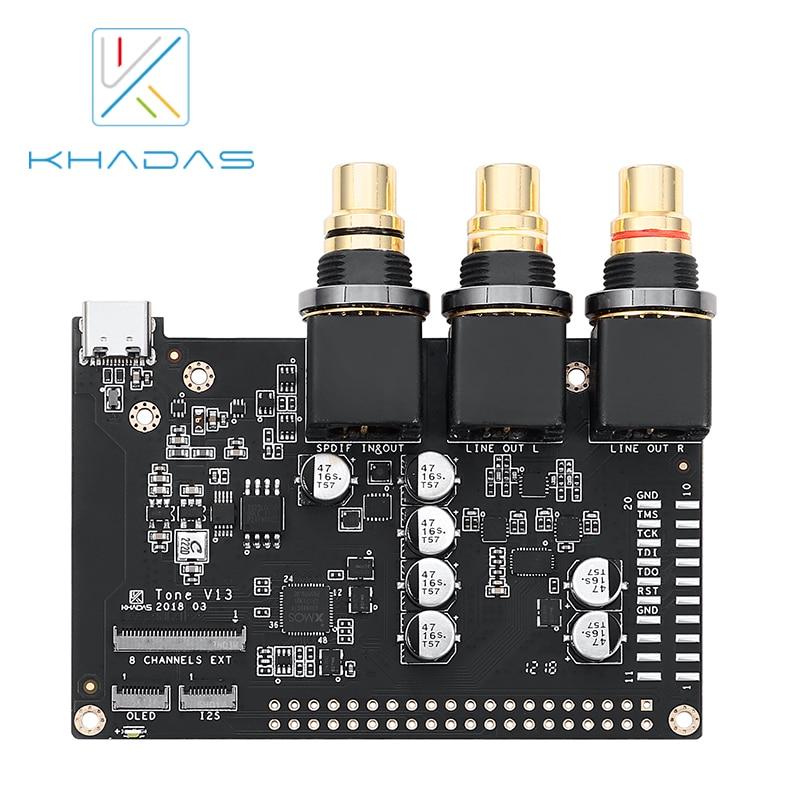 khadas vim1 basic mother board only 2g 8g Тональная плата Khadas с высоким разрешением, звуковая плата для Khadas vпрофессионалов, ПК и других SBCs (система управления)