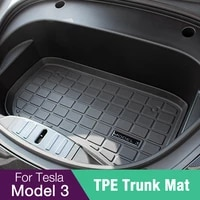 new 2021 model3 car front trunk mat for tesla model 3 accessories tpe mats waterproof wearable cargo tray storage pads