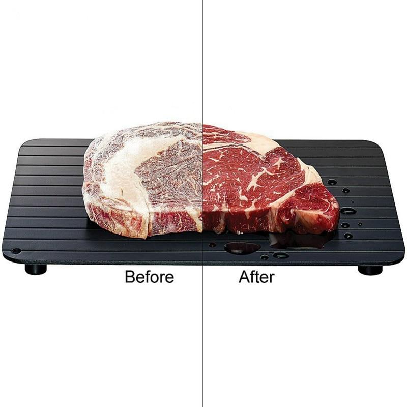 صينية تذويب سريعة للحوم والأطعمة المجمدة بدون كهرباء في الميكروويف