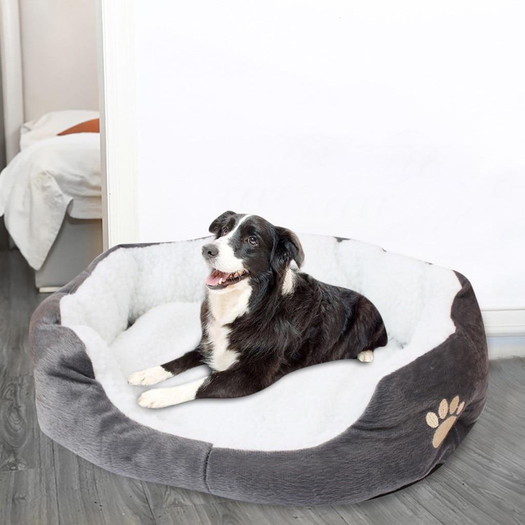 Cama de Cashmere para perros y gatos, caseta de Casa de perro...
