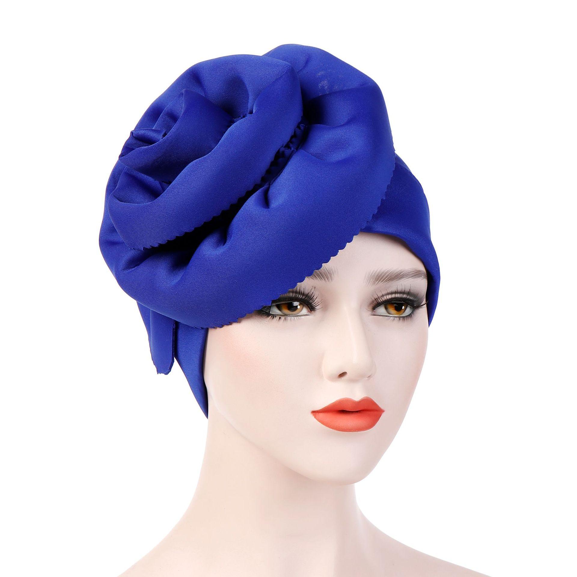 Шляпа Helisopus для женщин, большой тюрбан с цветком, элегантные вечерние шапки, накидка на голову, кепка для лечения раком, шапочка при химиотер...