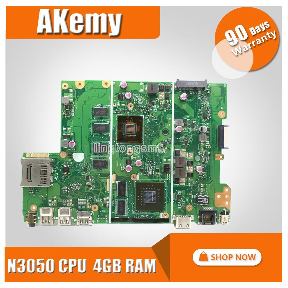 Placa base X441SC N15V-GL1-KA-A2 N3050 CPU 4GB RAM placa base REV2.0 para For Asus X441S X441SC placa base para portátil 100% probado