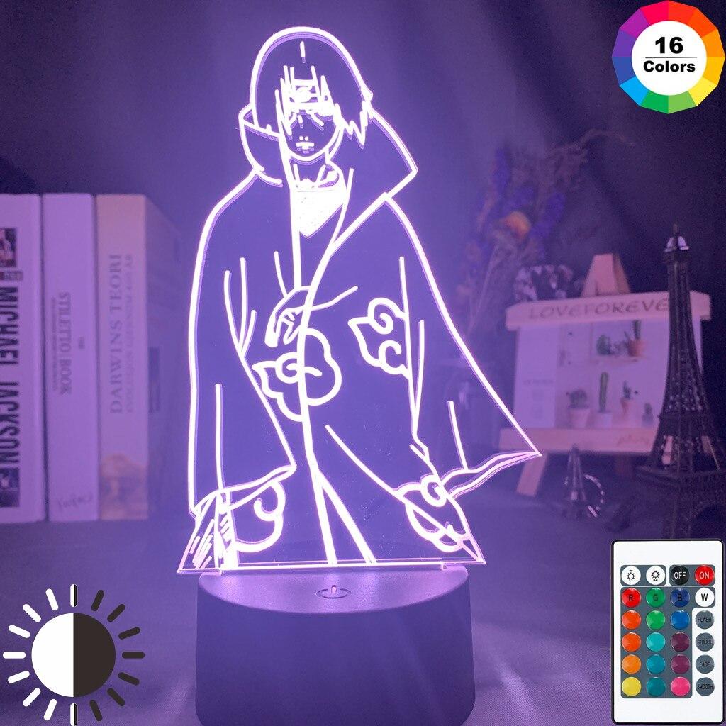 3d Night Light Itachi Uchiha Figure Led Colorful Nightlight for Home Decoration Cool Birthday Gift for Kids Night Lamp Naruto
