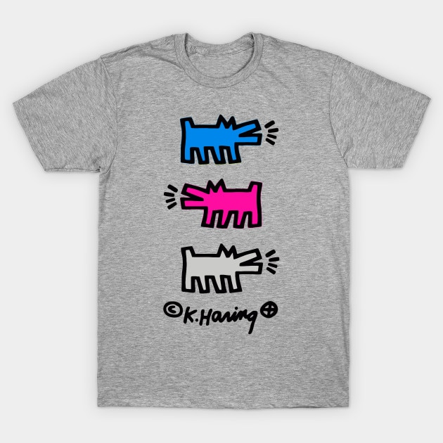 Men t-shirt KEITH HARING DOGS (V2) tshirt Women t shirt