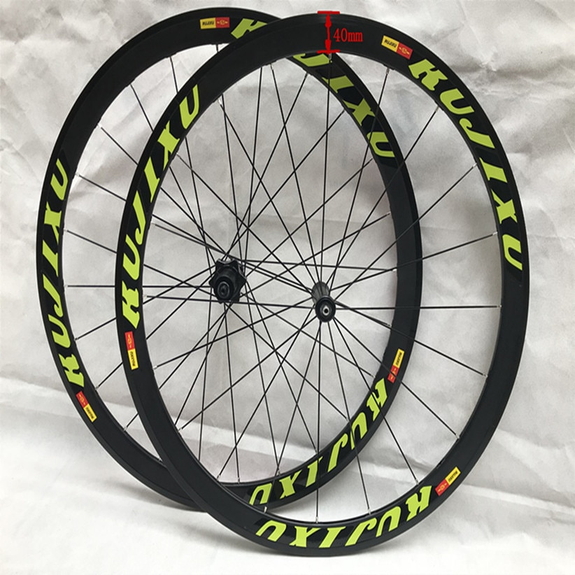 2018 New Bicycle 700C 120 Sound Road Bike l02 V Brake Broken Light Wind Road Wheels Rims
