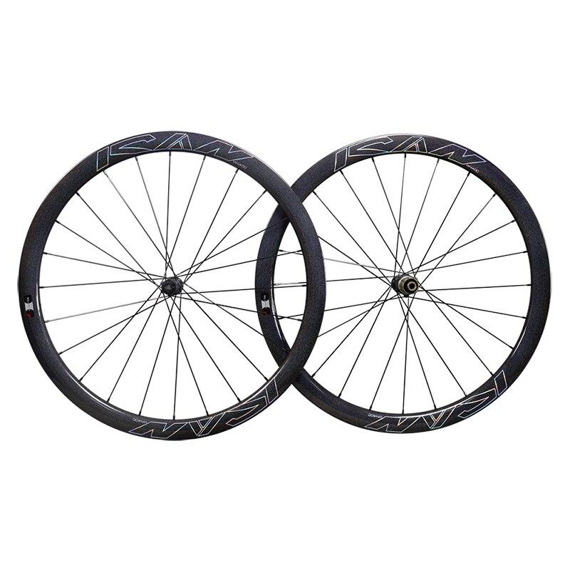 Freno de disco de ruedas de carbono súper ligero AERO novatec 411 412 SAPIM ruedas de carbono clincher 40mm con arco iris ICAN camaleón