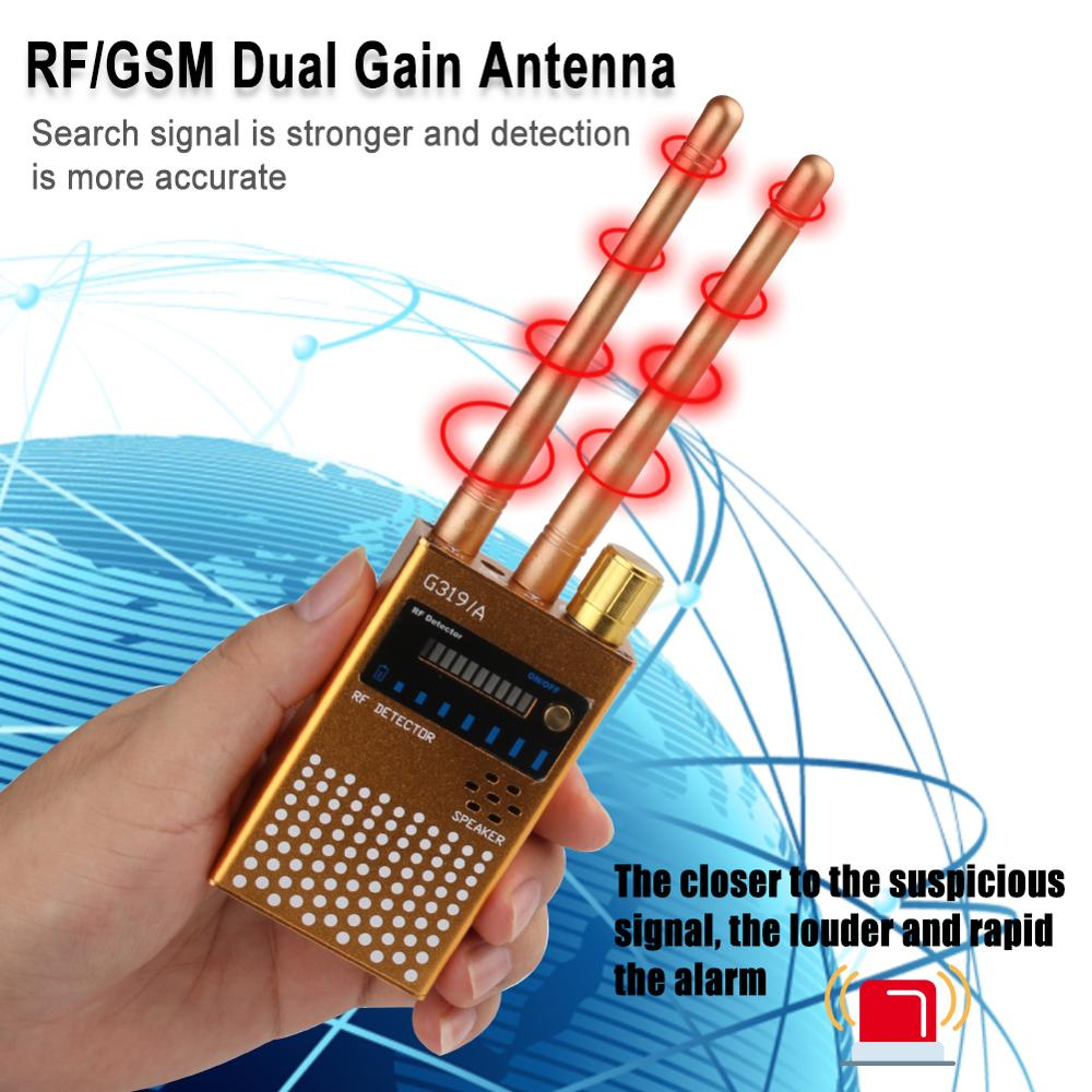 Security Alarm Anti Wiretapping Detector Dual Antenna Anti-wiretapping GSM Audio Bug Finder GPS Signal Detector RF Tracker enlarge
