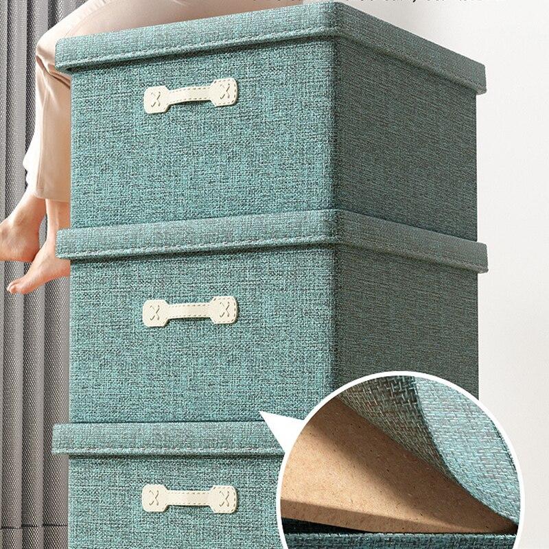 الإبداعية تخزين BoxCotton الكتان النسيج مكعب خزانة المنزل للطي سلة التخزين للأطفال اللعب المنظم