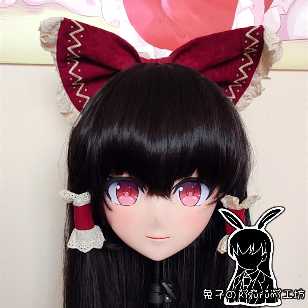 (RB0710) قناع كيجورومي كامل الرأس مصنوع من الراتنج ومخصص للرسوم المتحركة شخصية يابانية للعب الأدوار الانيمي مع غطاء خلفي