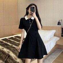 2021 Summer New Women's Clothing Hepburn Style Dresses Goddess Temperament Small Fresh Small Black D