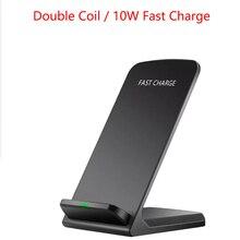 10W Qi support de chargeur sans fil pour iPhone8/X/XS/XR 11 Pro 8 Samsung S20 S10 S9 chargeurs sans fil de téléphone à charge rapide