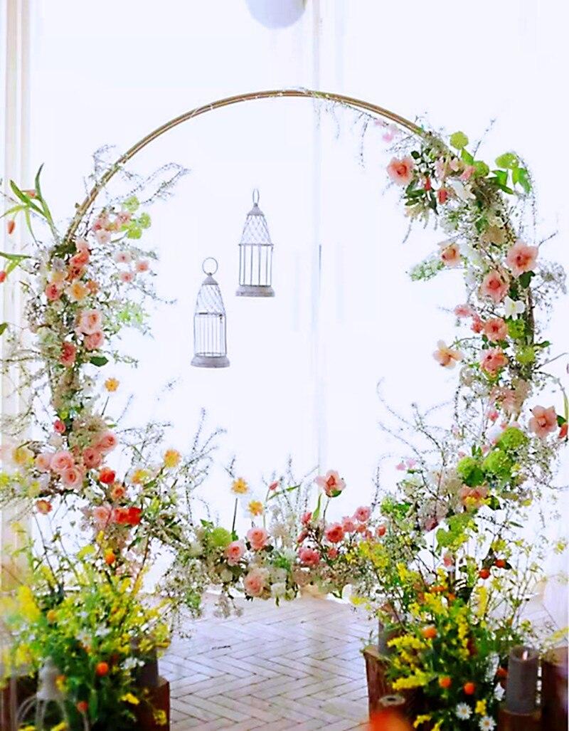 2.5 متر قوس الزفاف Mariage دائرة خلفية حامل دائري بالون بوابة معدنية مزدوجة حلقة الديكور قوس معدني الدعائم الزفاف