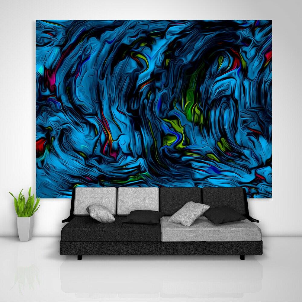 Benutzerdefinierte Abstrakte Bunte Wandteppich Kunst Wandbehang Tisch Bettdecke
