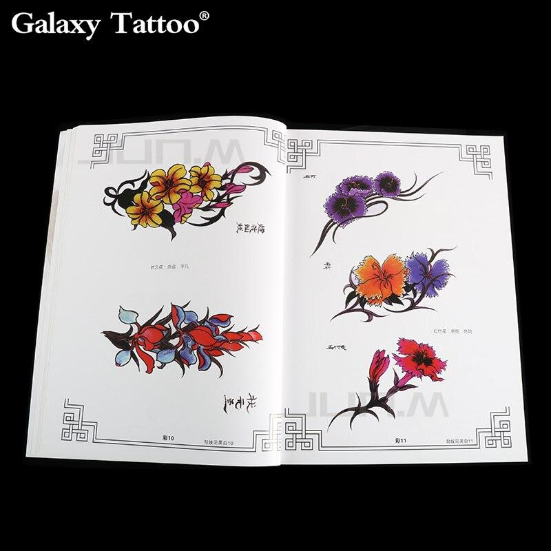 A4 libros de tatuajes flores hibisco lirio rododendro Magnolia Camelia Color boceto tatuaje accesorios envío gratis