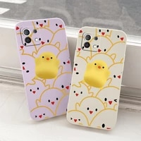 cute chick phone case for xiaomi mi 11 lite ultra 11i 10t 9t pro soft back cover on lite 10 10s 9 8 lite pro poco f2 x2 f3 pro