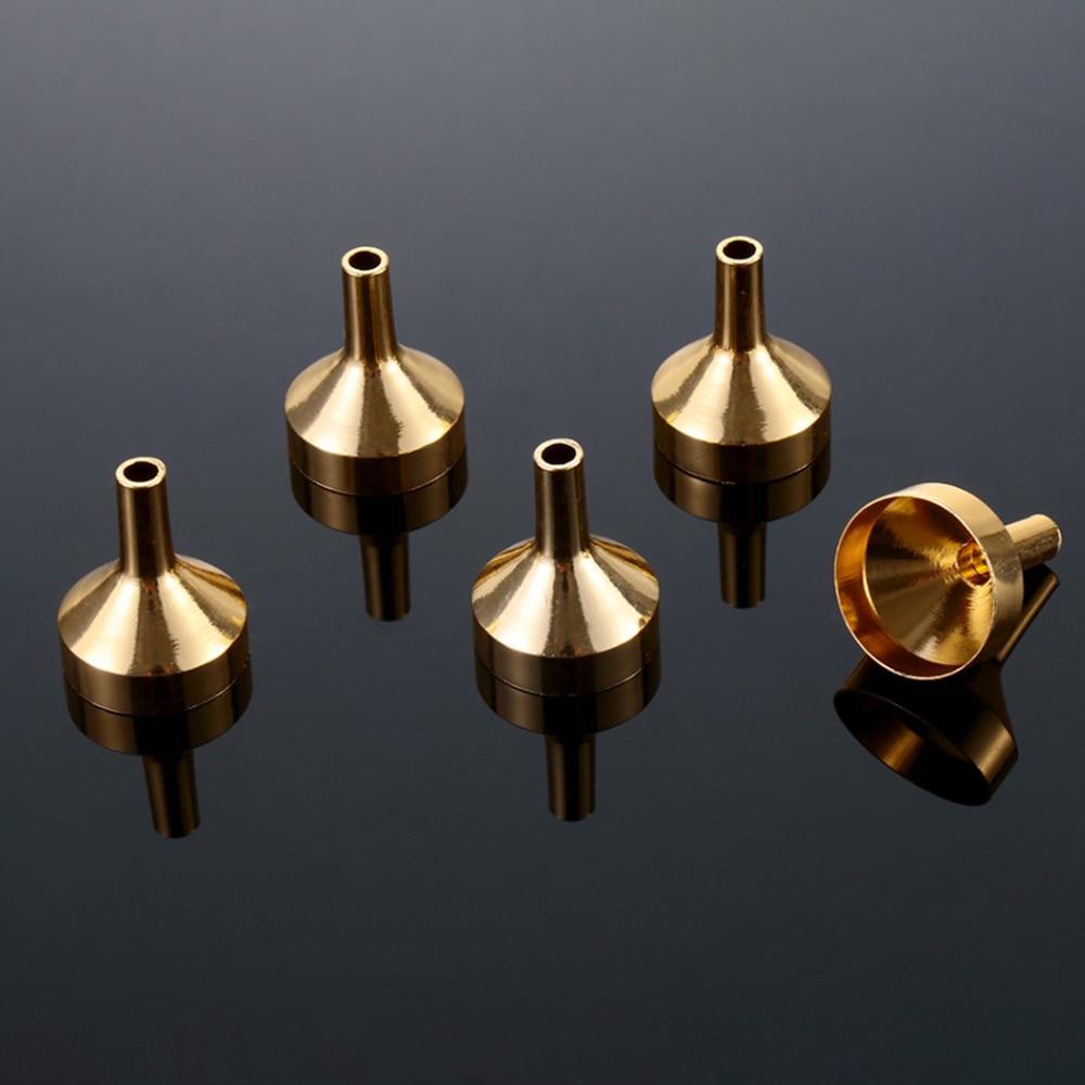 Mini embudos de Metal para rellenar botellas pequeñas, herramienta de dispensación de...