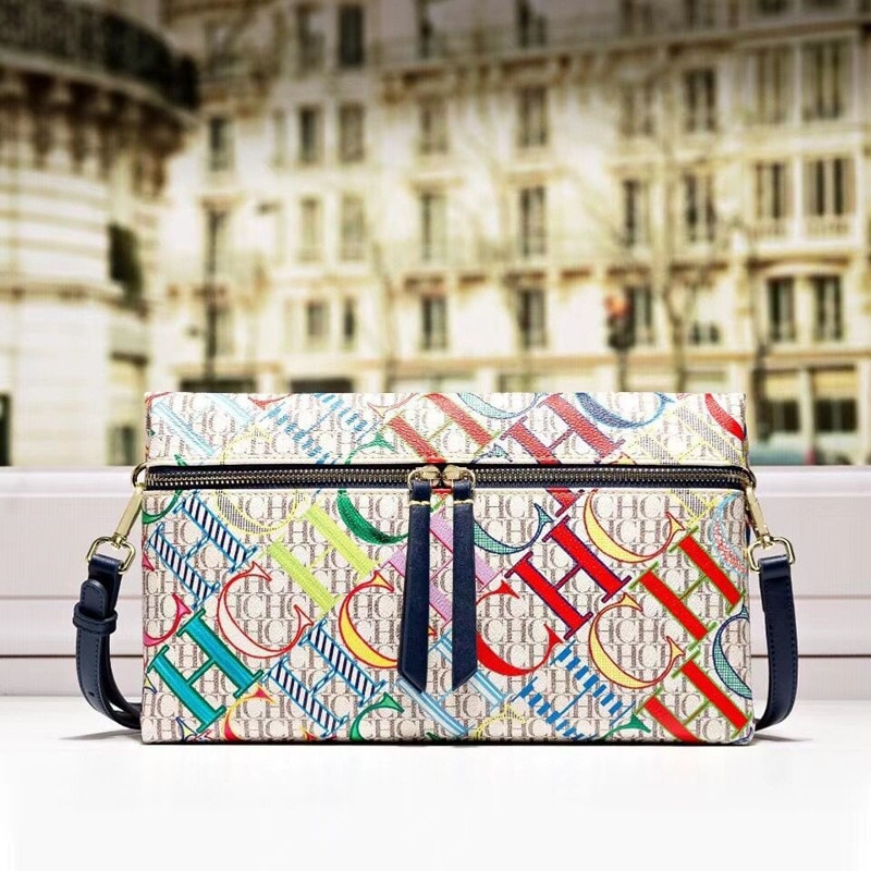 2021 جديد الموضة السيدات الصغيرة قطري واحد الكتف سحاب مطبوع حقيبة الشهيرة الفاخرة مصمم المحافظ وحقائب اليد كيس الرئيسي Cc