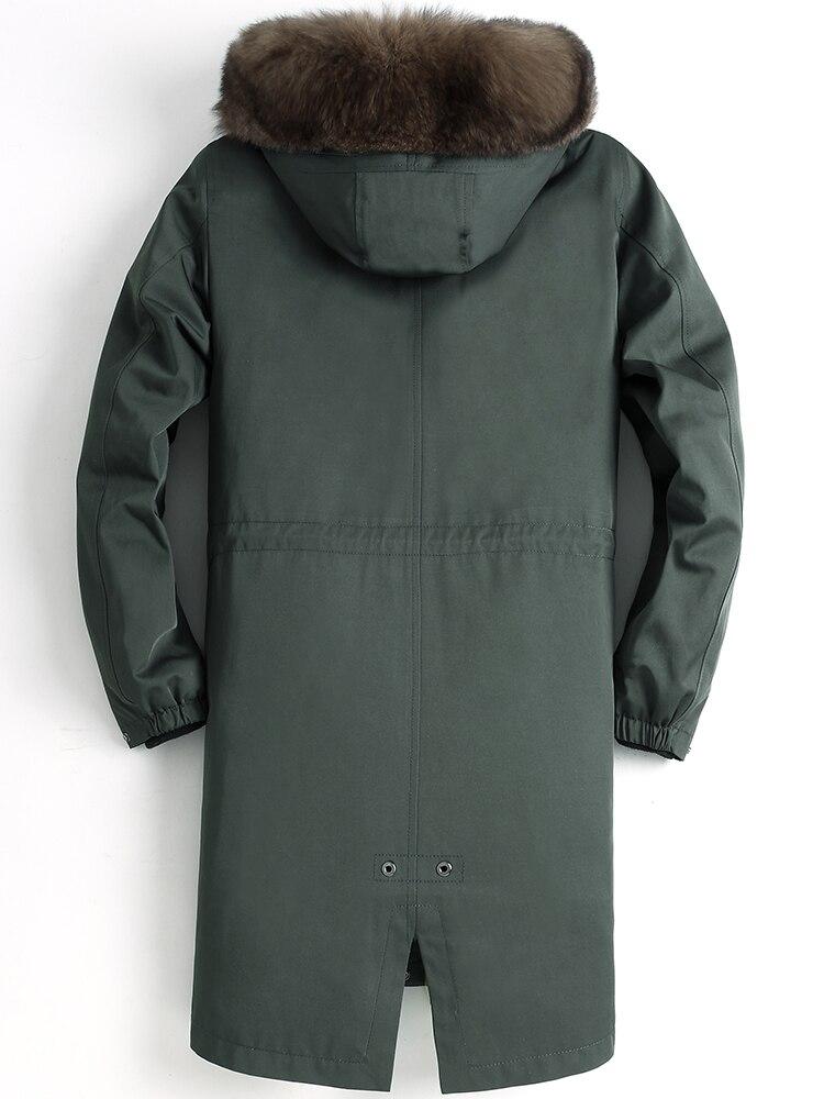 جاكيت شتوي رجالي ، معطف فرو ثعلب طبيعي ، دافئ ، مقاس كبير ، 2020 MY1639 ، 4555