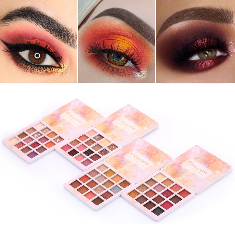 CmaaDu 16 цветов профессиональный макияж мерцающие тени для век Косметика Тени для век Палитра водонепроницаемые матовые блестящие натуральные новые TSLM1