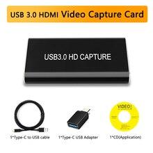 Dongle de Capture vidéo en USB   3.0 HDMI to USB, 1080P, prise vidéo Audio 60FPS, enregistreur de Capture de jeu, pour XBOX PS4, TV Live